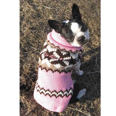 Handmade Dog Sweater Wool Aspen Pink XXLarge