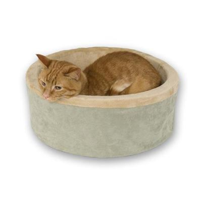 Thermo Kitty Bed Sage Heated Cat Bed 20-inch