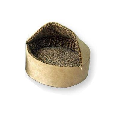 Thermo Kitty Leopard Tan Heated Cat Bed Small