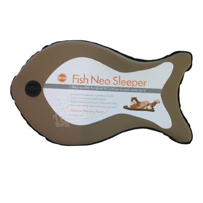 Neoprene Fish Sleeper Cat Bed Tan