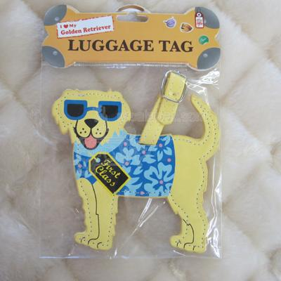 Luggage Tag I Love My Golden Retriever
