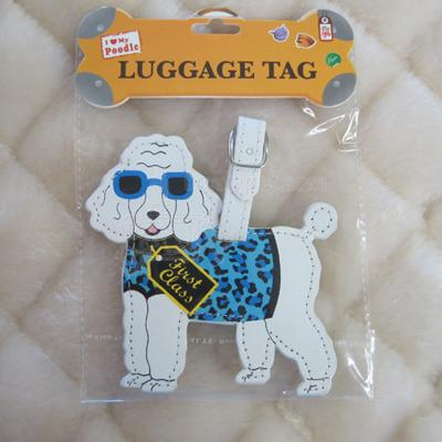 Luggage Tag I Love My Poodle