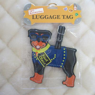 Luggage Tag I Love My Rottweiler