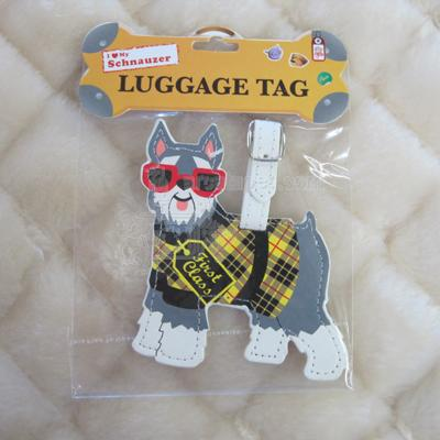 Luggage Tag I Love My Schnauzer
