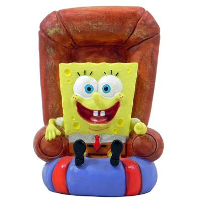 Sponge Bob Square Pants in a Chair Aquarium Ornament