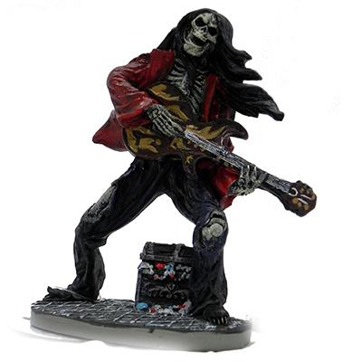 Rock Star Skeleton Guitarist Large Aquarium Ornament