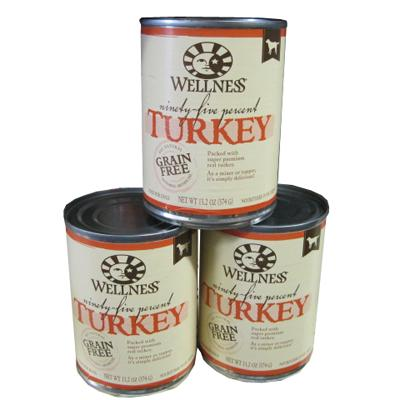 Wellness 95% Turkey Recipe Dog Food 13oz Case