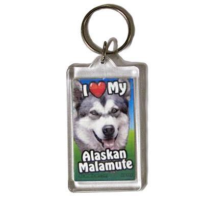 Plastic Keyring Alaskan Malamute