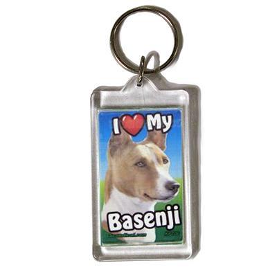 Plastic Keyring Basenji