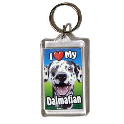 Plastic Keyring Dalmatian