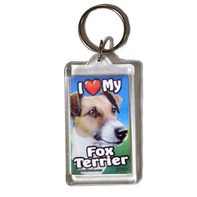 Plastic Keyring Fox Terrier