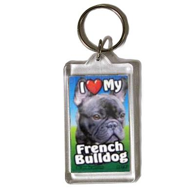 Plastic Keyring French Bulldog