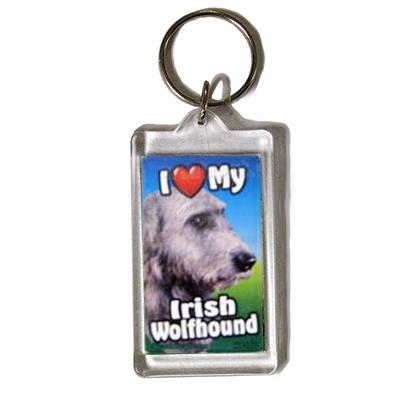 Plastic Keyring Irish Wolfhound
