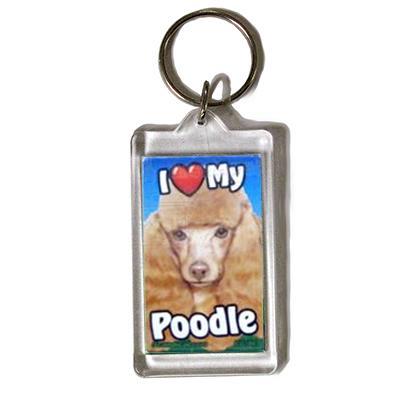 Plastic Keyring Toy Poodle