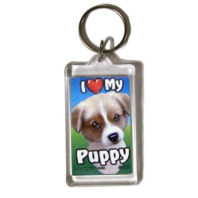 Plastic Keyring Puppy
