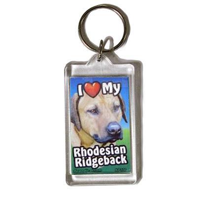 Plastic Keyring Rhodesian Ridgeback