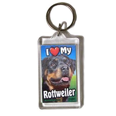 Plastic Keyring Rottweiler
