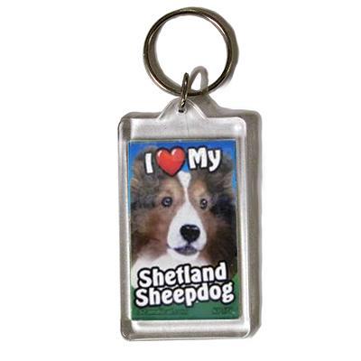 Plastic Keyring Shetland Sheepdog