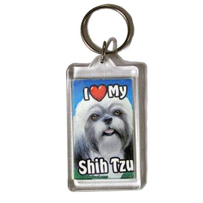 Plastic Keyring Shih Tzu