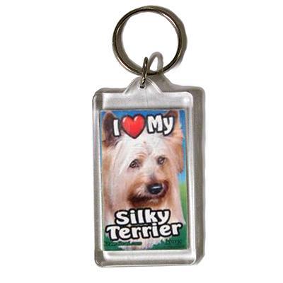 Plastic Keyring Silky Terrier