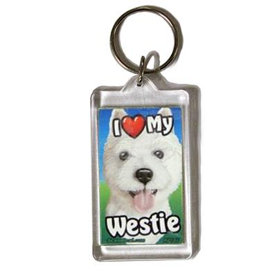 Plastic Keyring West Highland Terrier
