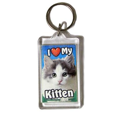 Plastic Keyring Kitten Mix Breed