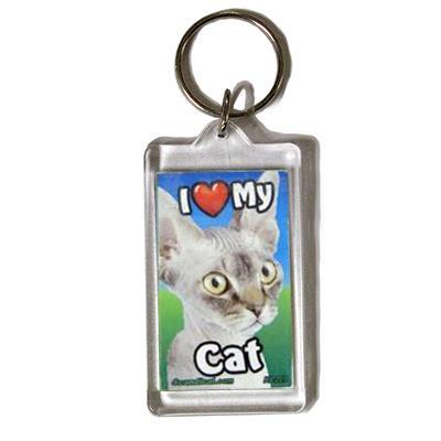 Plastic Keyring Cat Sphynx