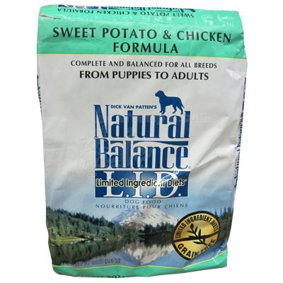 Natural Balance Chicken and Sweet Potato Dog Food 15 Lb