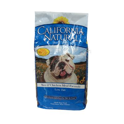 California Natural Chicken & Rice Low Fat Dog Food 5 Lb.
