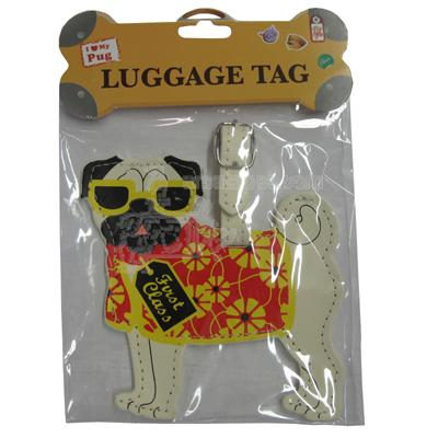 Luggage Tag I Love My Pug