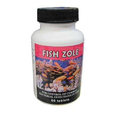 Fish Zole Aquarium Antibiotic Treatment 250MG 60ct