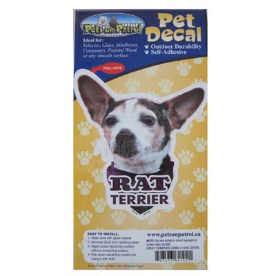 6-inch Vinyl Dog Decal Rat Terrier Picture