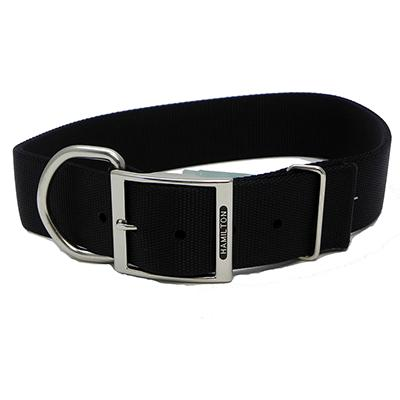 Hamilton Nylon Black Dog Collar 1-3/4  x 30-inch