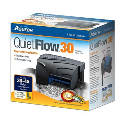 Aqueon Quiet Flow 30 Aquarium Power Filter