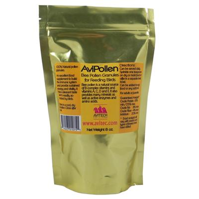 Avitech Avipollen Bee Pollen Bird Food Supplement 8oz