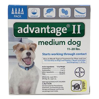 Bayer Advantage II Dog 11-20 lb 4pk