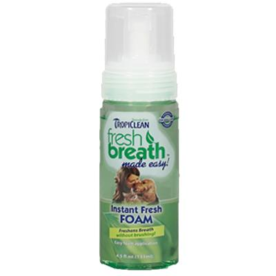 Tropiclean Instant Fresh Mint Dental Foam for Dogs and Cats