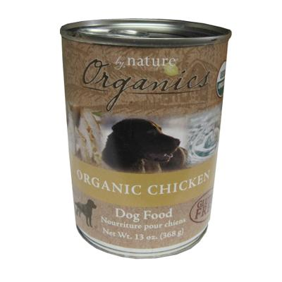 By Nature Orgnic Chicken Canned Dog Food 13-oz. ea