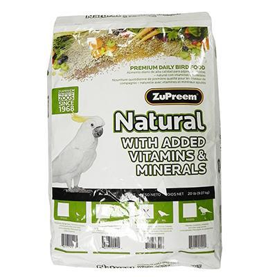 ZuPreem Natural Blend Conure Food 20 pound