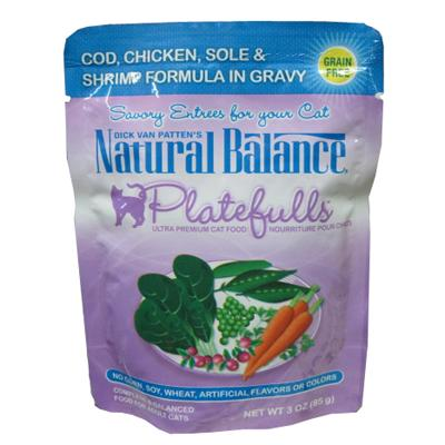 Platefulls Cod, Chicken and Shrimp Cat Food Pouch each