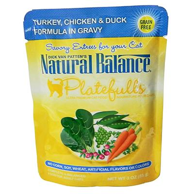 Platefulls Turkey, Chicken and Duck Cat Food Pouch each