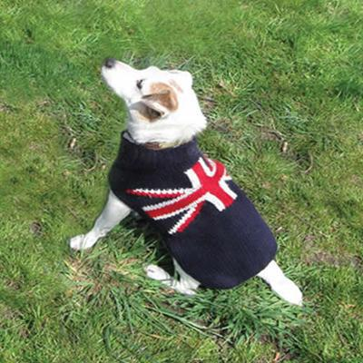 Handmade Dog Sweater Union Jack Medium