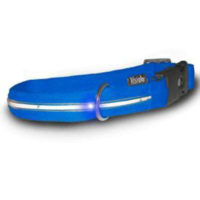 Visiglo Blue LED Illuminated Medium Dog Collar 13 to 20 inch