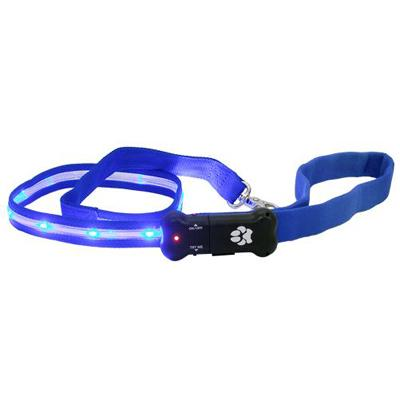 Visiglo Blue LED Illuminated Dog Leash 4 Foot