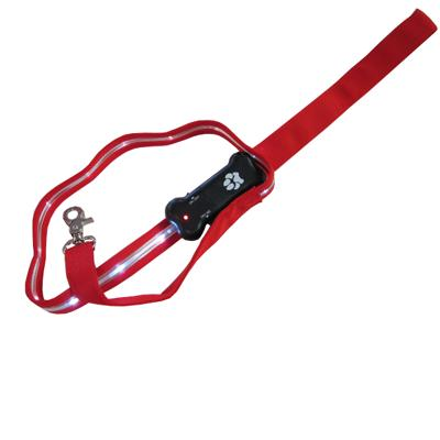 Visiglo Red LED Illuminated Dog Leash 4 Foot