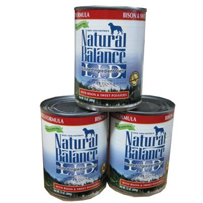 Natural Balance Sweet Potato and Bison Canned Dog Food Case