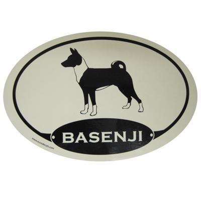 Euro Style Oval Dog Decal Basenji