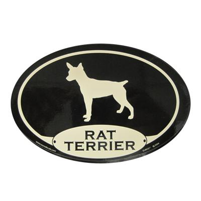 Euro Style Oval Dog Decal Rat Terrier