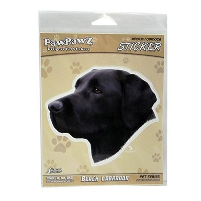 Indoor or Outdoor Black Labrador Sticker Decal