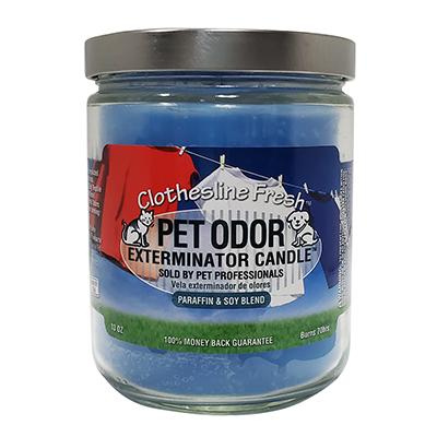 Pet Odor Eliminator Clothesline Fresh Candle
